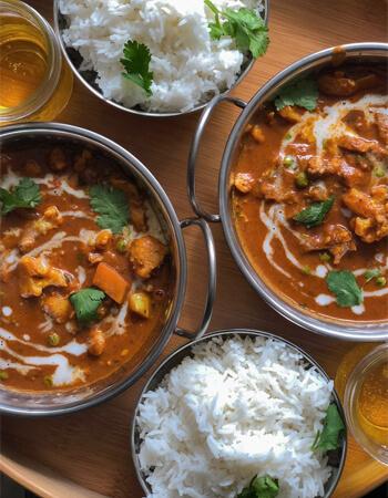 curry indien et riz recette