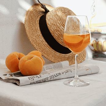 vin orange dessert