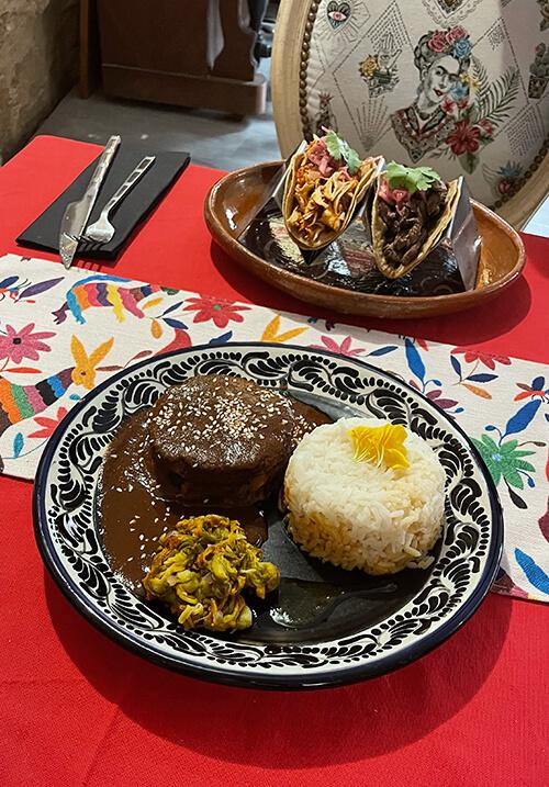 Plats mexicains restaurant el pueblo